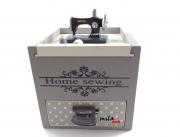 Caixa decorativa em formato de máquina de costura com gaveta