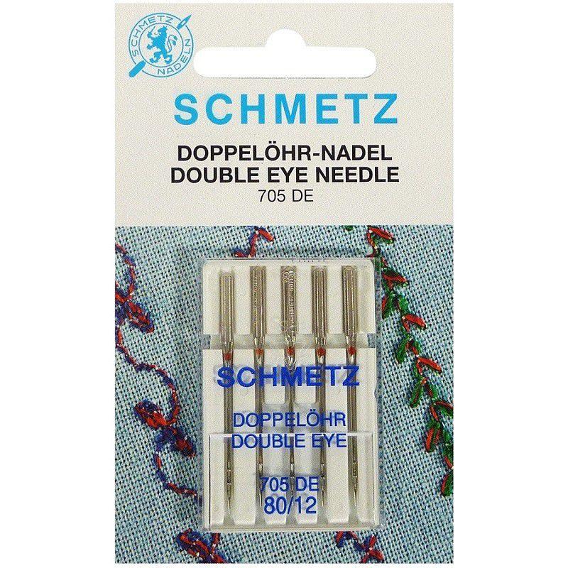 Agulha SCHMETZ para costurar com 2 Linhas - Dois Olhos