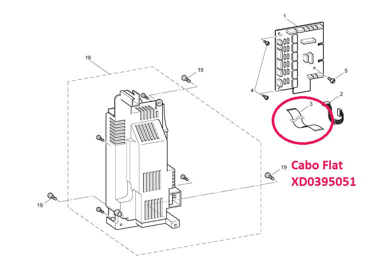 Cabo Flat para Máquinas de Bordar Brother - XD0395051