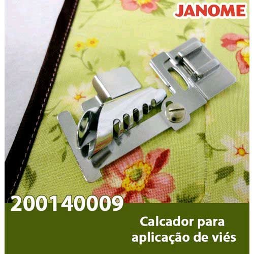 Calcador para aplicar viés de 10mm a 14mm JANOME 200140009
