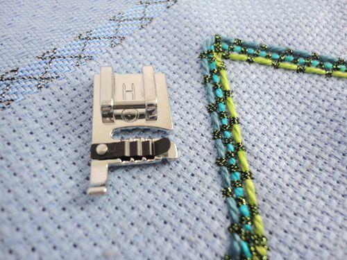 Calcador para cordão triplo