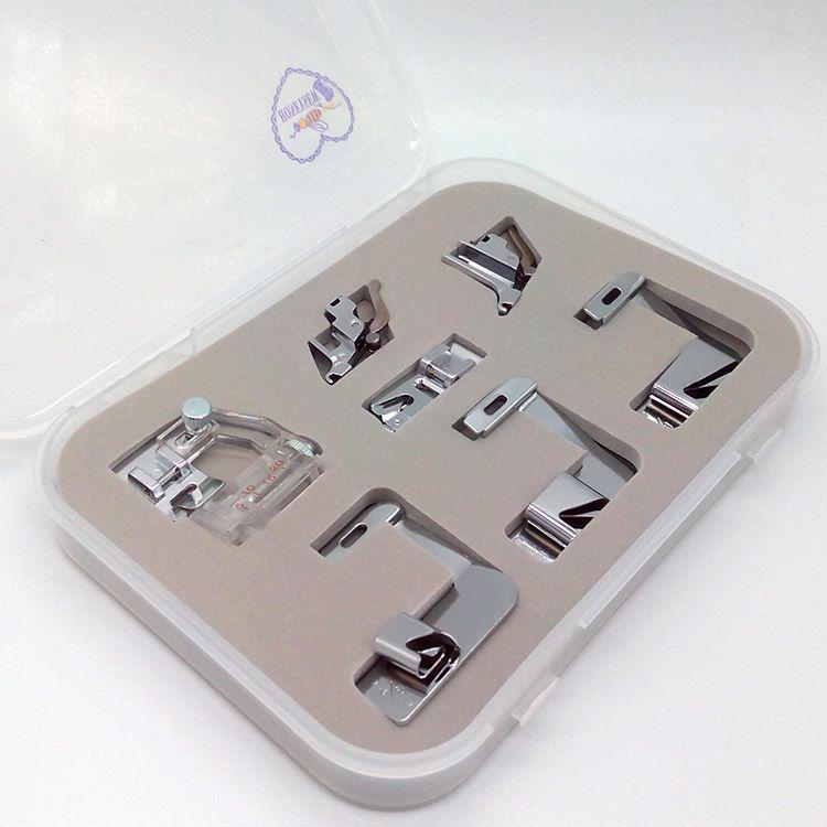 Calcadores para viés e bainha - kit com 7 - Para todas as máquinas domésticas