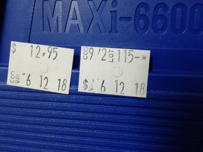 Etiquetas de 2 linhas MX 6600 - Pacote com 5.000