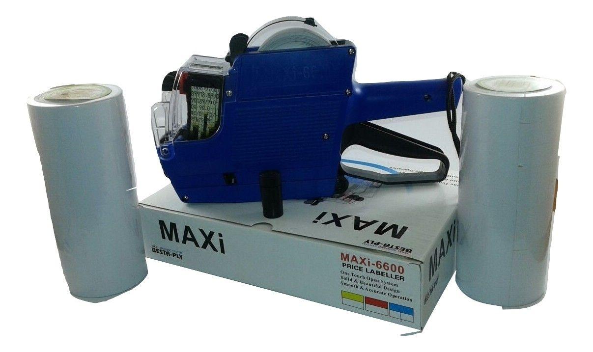 Kit com 1 Etiquetadora MX6600 de 2 Linhas + 10.000 etiquetas