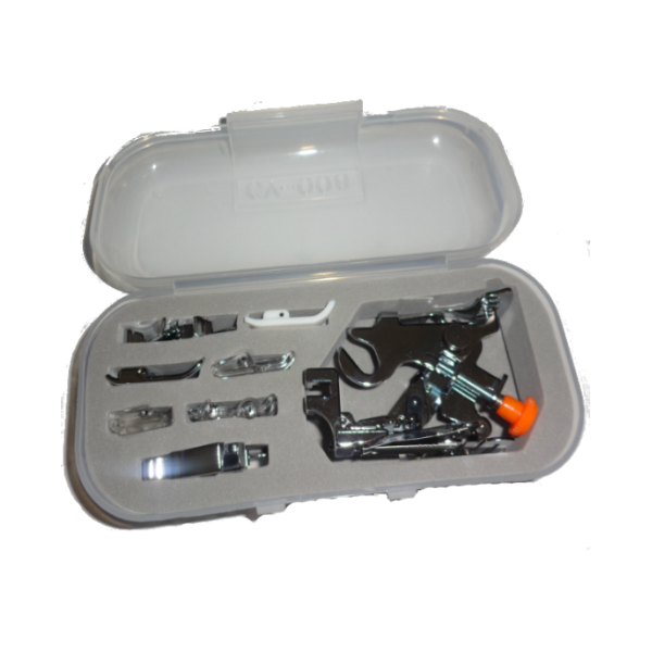 Kit com 7 calcadores + ruffler