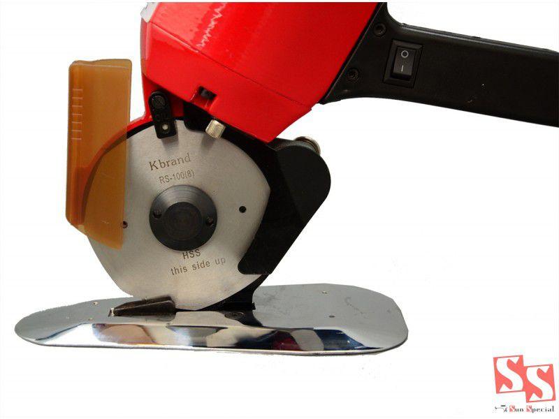 Máquina de Cortar tecidos SUN SPECIAL com disco de 4 polegadas e 300 Watts de potencia.