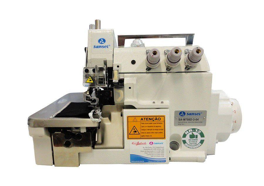 Máquina de Costura Overloque SANSEI com Motor Direct Drive