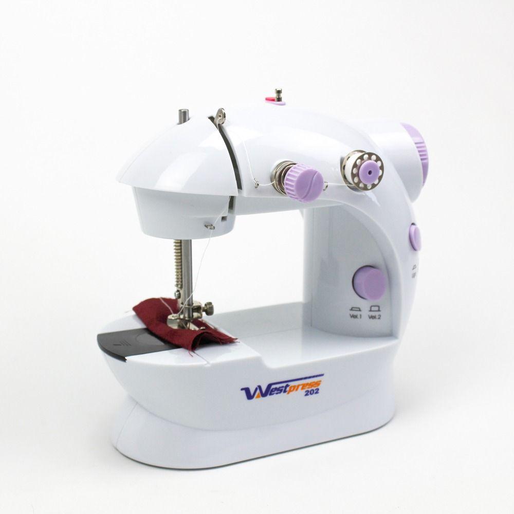 Máquina de Costura Reta Portátil, Bivolt com pedal Westpress West202