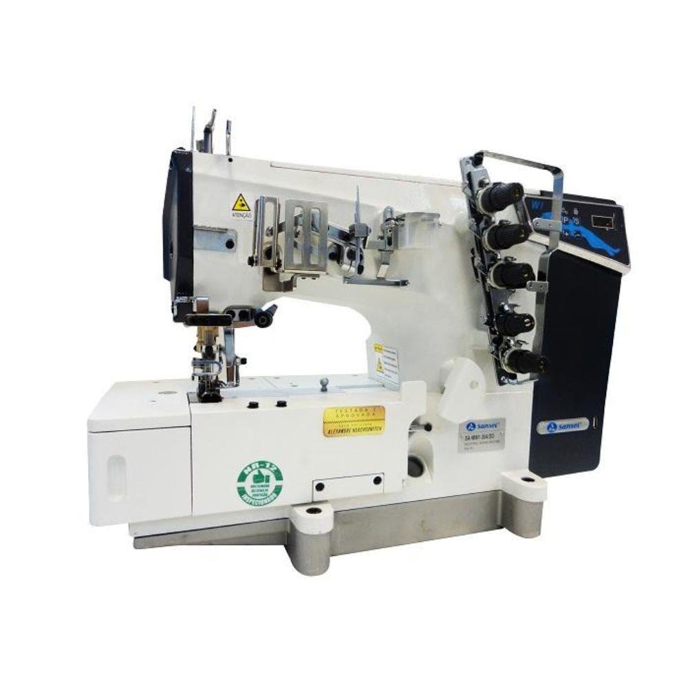 Máquina Galoneira Sansei Base Plana 3 Agulhas Direct Drive SA-MW1-364DD