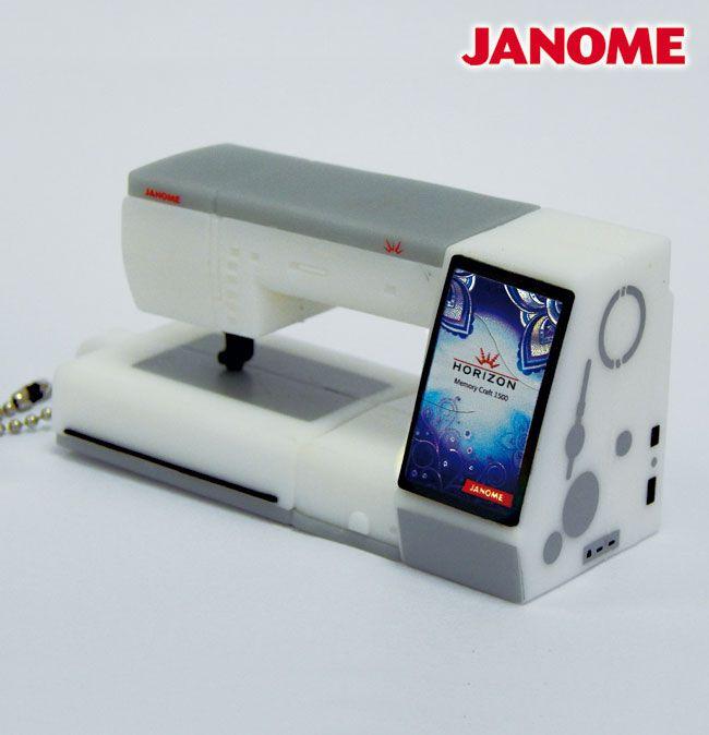 Pendrive USB 2GB estilo máquina Janome