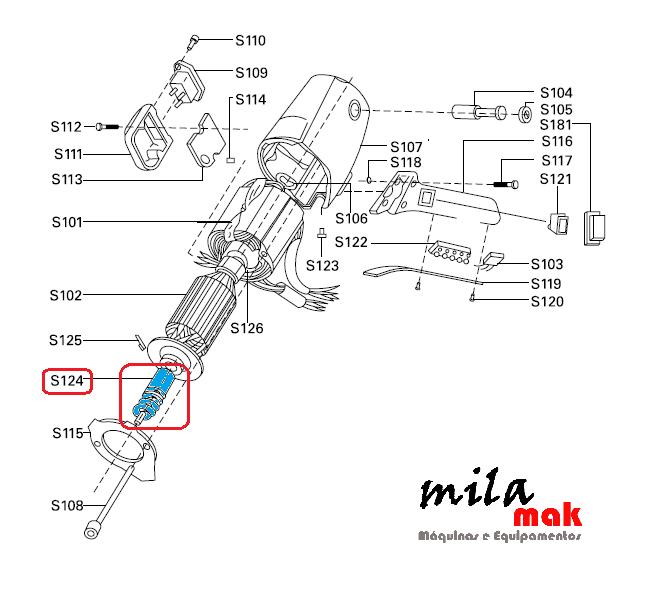 Pinhão da Engrenagem S-124 - Para máquinas de cortar tecido RC-100