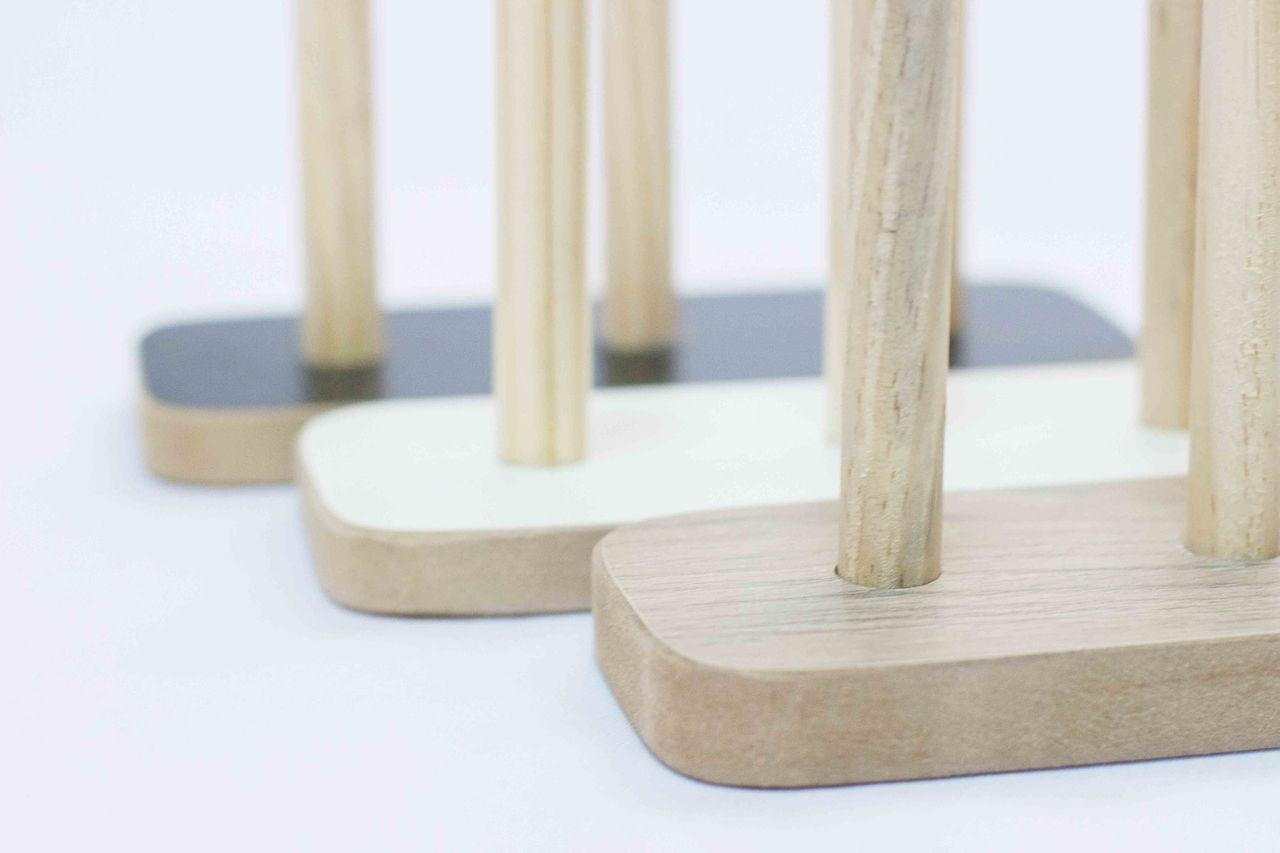 Porta Fios de madeira para dois cones de linha