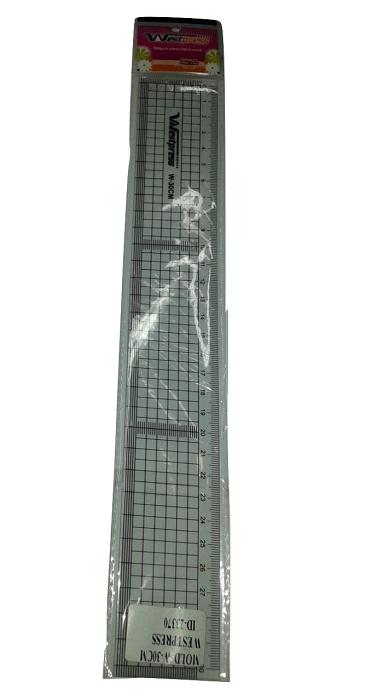 Régua Flexível Patchwork quadriculada 30cm.