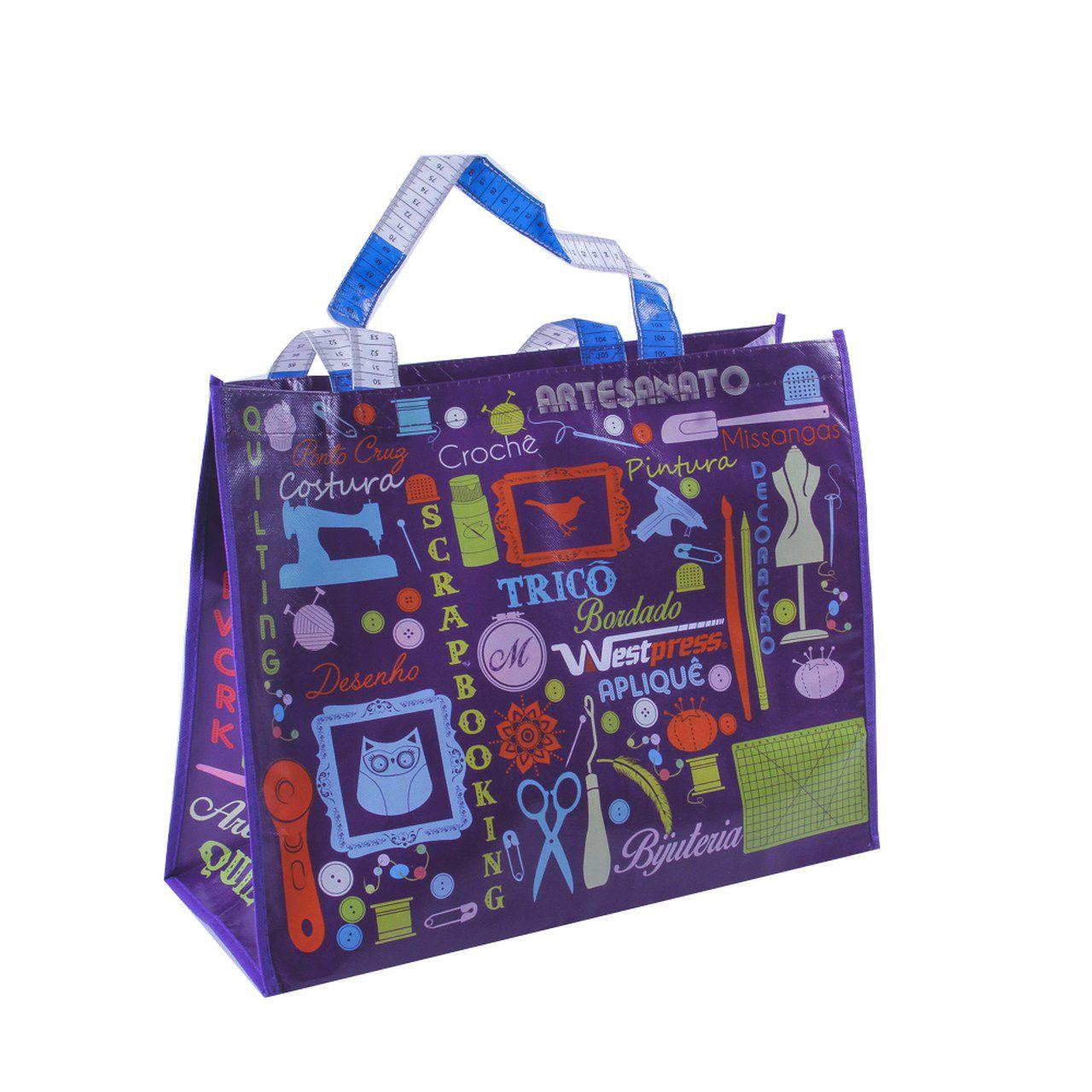 Sacola personalizada para costura e patchwork Westpress - Roxo
