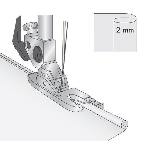 Sapatilha para Bainha Estreita - 2 mm - Original PFAFF