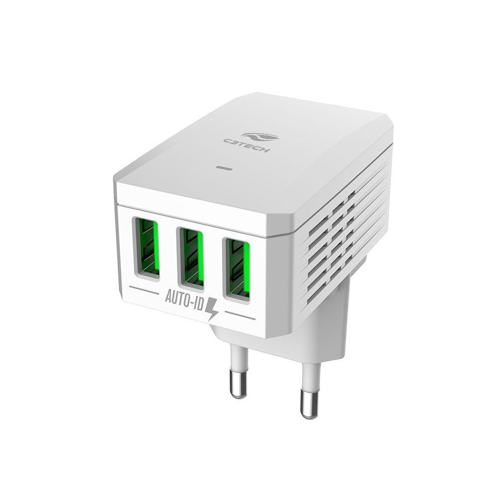 CARREGADOR UNVERSAL C3TECH AC/USB UC-310WH