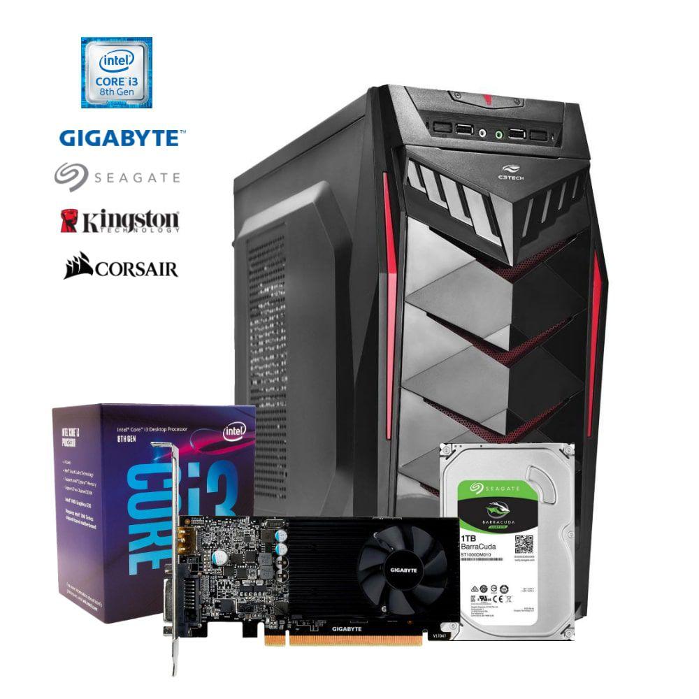 Computador CONCEPT i3-8100, GT1030, RAM 8GB, HD 1TB