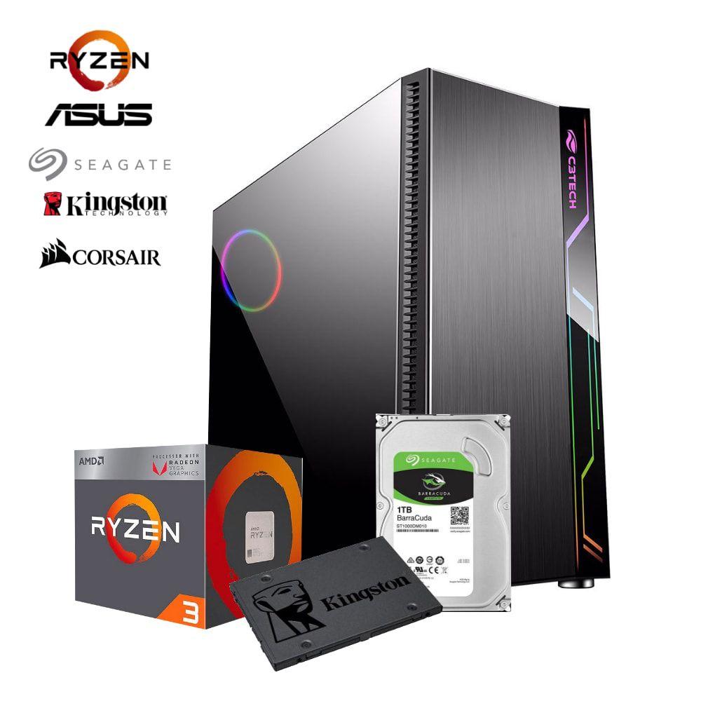 Computador CONCEPT RYZEN R3 2200G, RAM 8GB, HD 1TB  + SSD 120GB