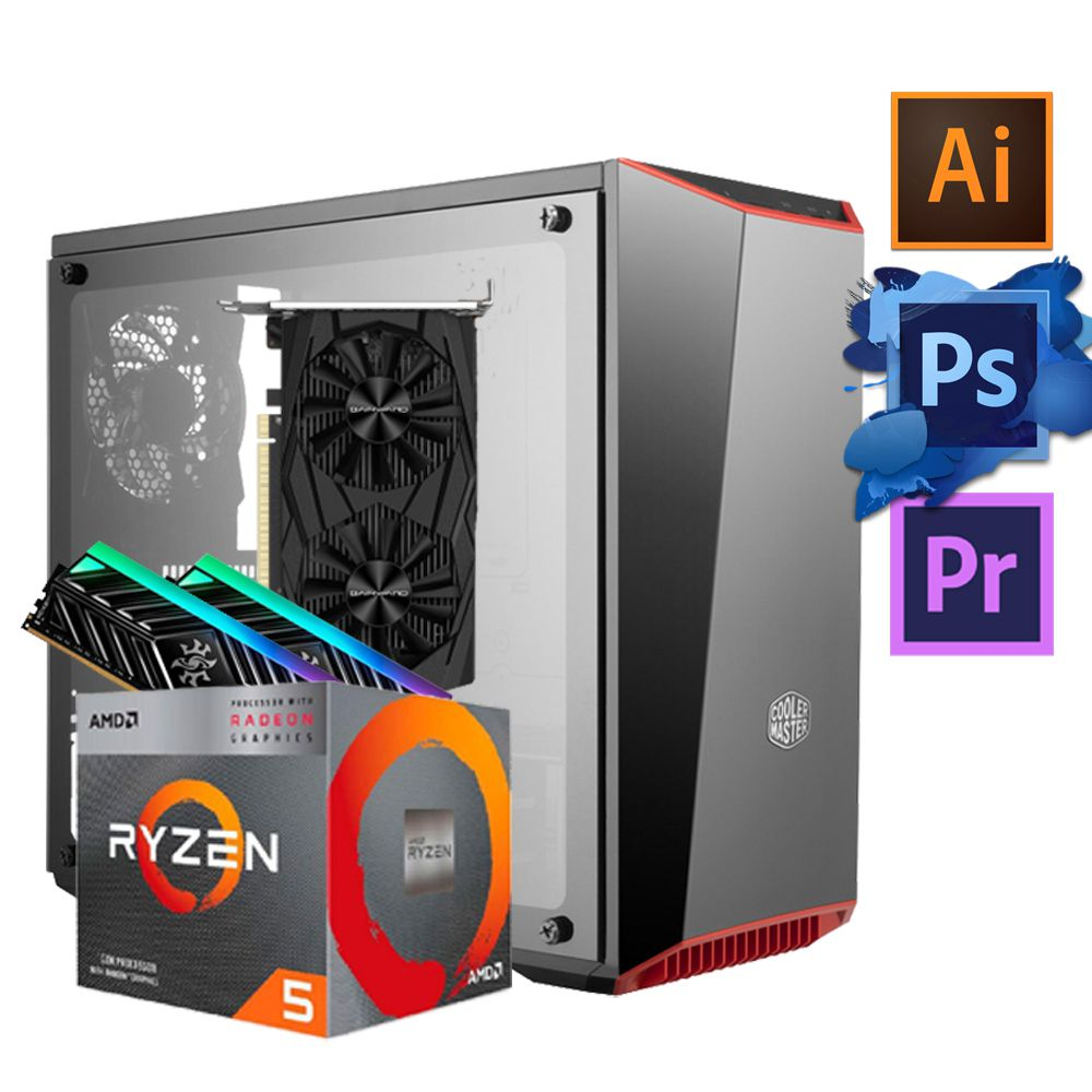 DESKTOP ADVANCED PROJECT  - Processador Ryzen 5 3400G + GTX 1650 4GB + Mémoria Ram 16GB