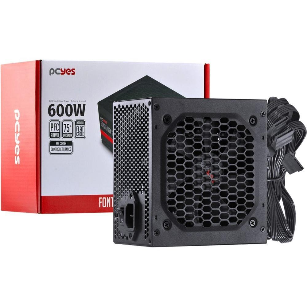 FONTE ATX 600W SPARK 75 - PXSP600WPT - PCYES
