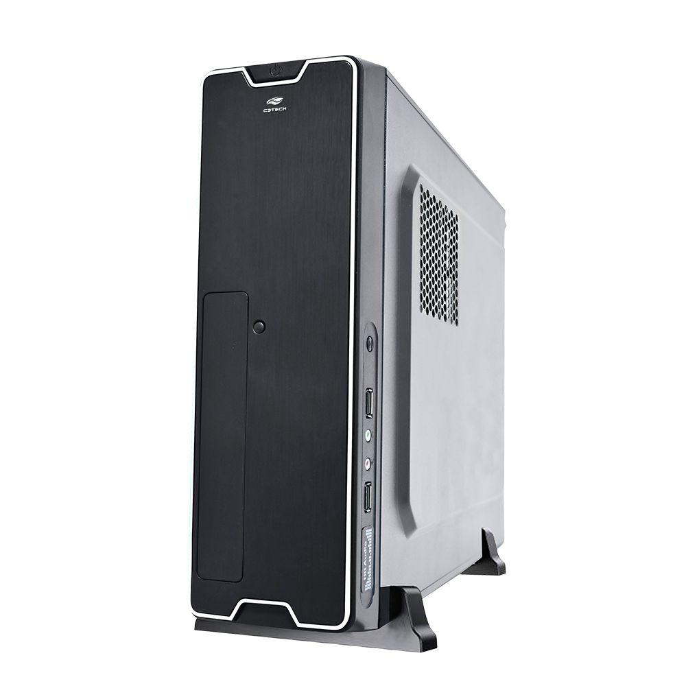 GABINETE SLIM C3TECH DT-150BK COM FONTE PS-200SFX