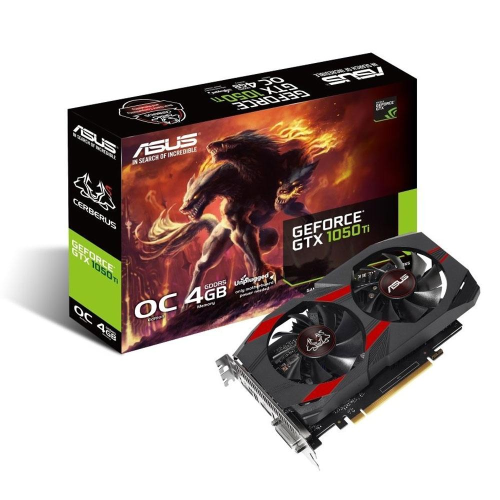 PLACA DE VIDEO ASUS GEFORCE 1050TI 4GB DDR5 CERBERUS-GTX1050TI-O4G