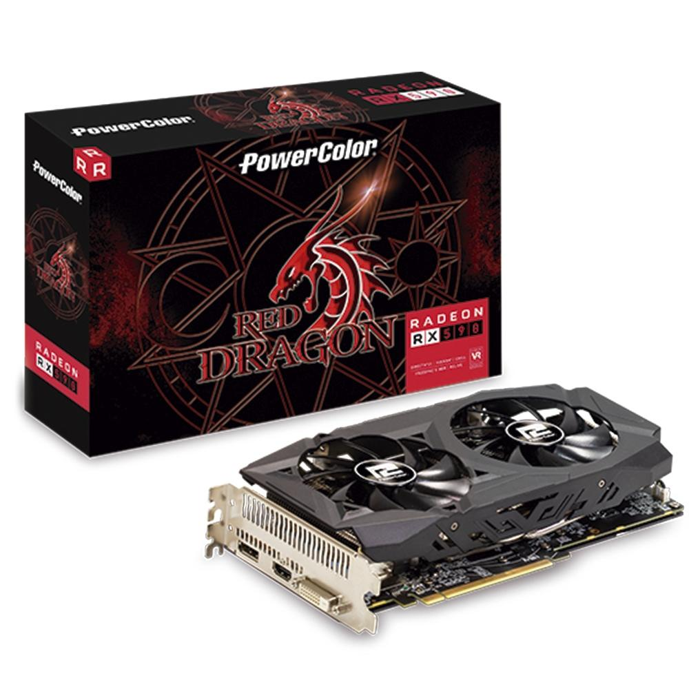 PLACA DE VIDEO AXRX 590 8GB RED DRAGON DUAL POWER COLOR 8GBD5-DH