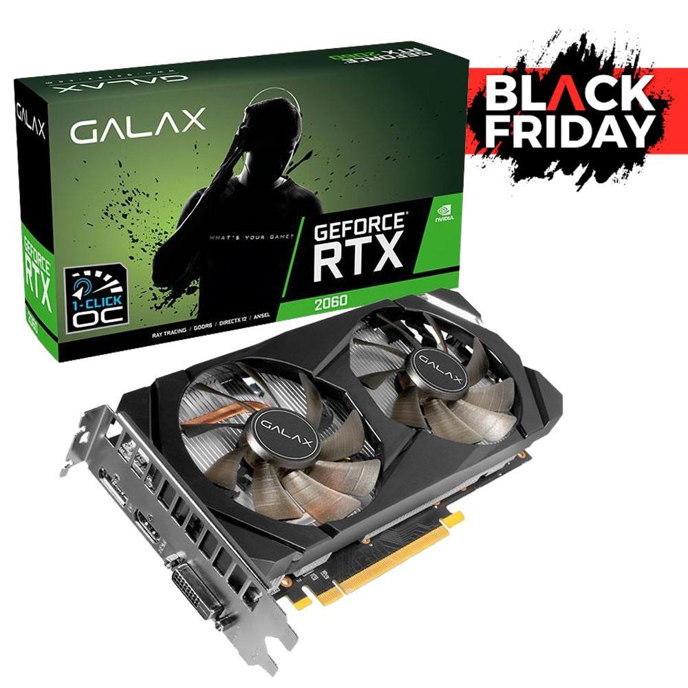 PLACA DE VIDEO GALAX NV RTX2060 6GB GDDR6 192BIT GV- 26NRL7HPX7OC