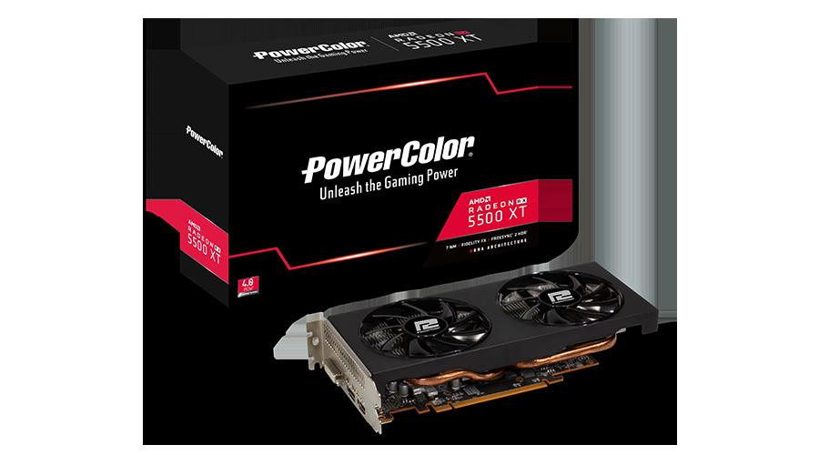 PLACA DE VIDEO GPU AMD RX5500XT 8GB POWER COLOR G00325500G