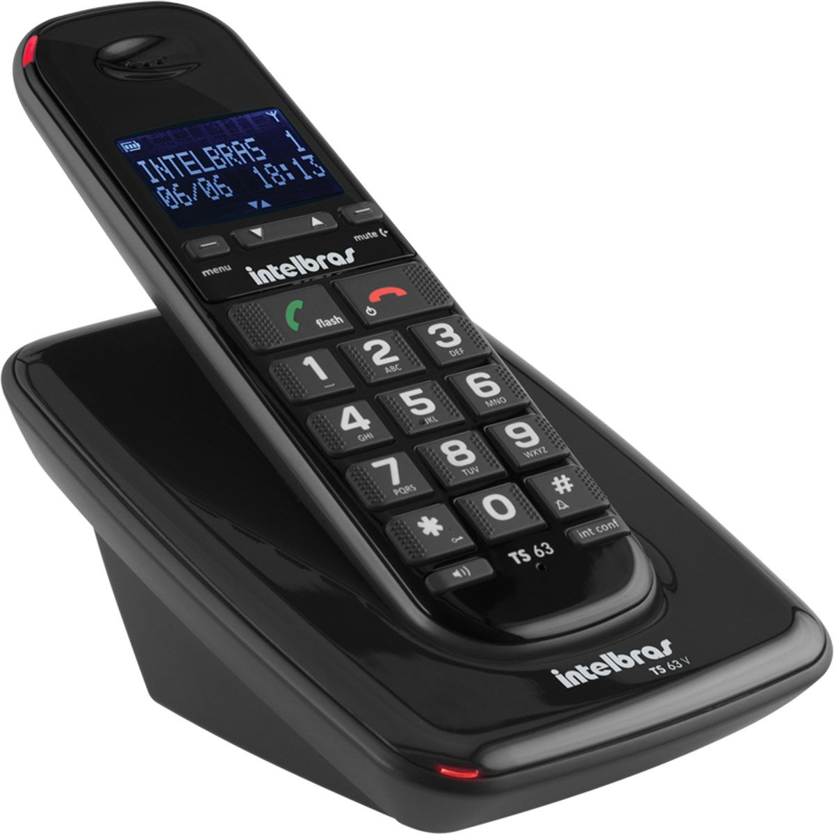 TELEFONE INTELBRAS TS63V SEM FIO PRETO