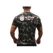 Camiseta Militar / Camuflada King 4x4 - Manga Curta