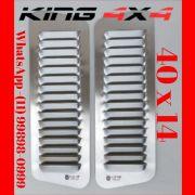 Par Entrada De Ar Para Capô em Alumínio | Alumínio - 40cm x 14cm