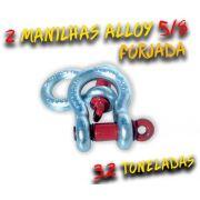 Par Manilha Curva Alloy 5/8 Forjada - 3.2 Tons. Anilha / Jimny / 100% Coforja