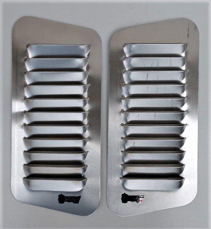Par Entrada De Ar Para Capô em Alumínio | Alumínio - 50cm x 20cm