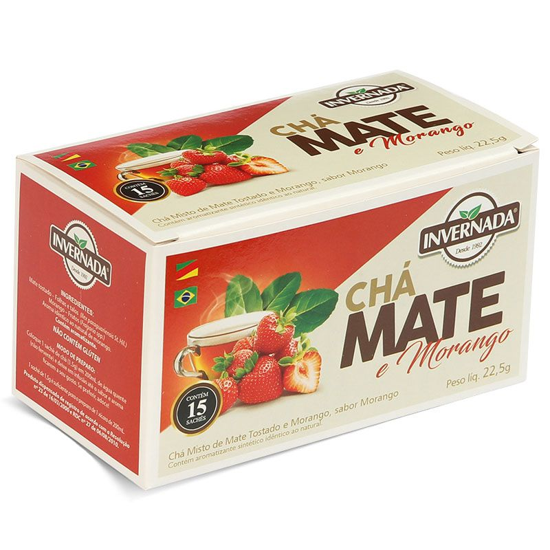 Chá Mate e Morango