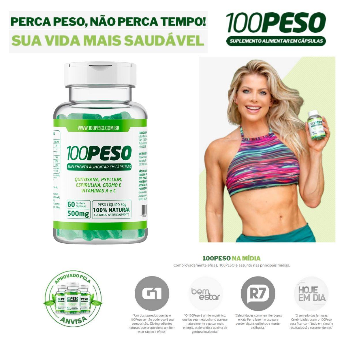 100PESO - Tratamento para 30 dias - 1 Frasco com 60 caps