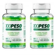 100PESO - Tratamento para 60 dias - 2 Frascos com 60 caps cada