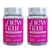 Kit 2 Unidades New Hair 30 Capsulas Feminino Suplemento Alimentar para Cabelos e Unhas