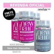 Kit 3 New Hair Caps Feminino + 1 New Hair Caps Masculino
