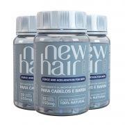 New Hair Caps Masculino 3 Unid - Tratamento Para 90 Dias