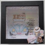 """ANINHA BARRETO - Quadro Cofre """"Viagem"""" - On Line"""