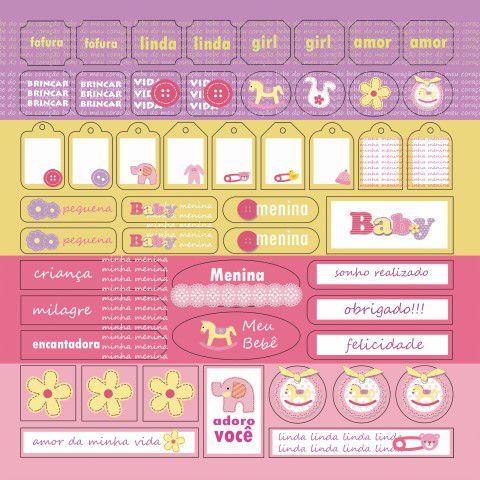 Coleção Bebê Menina Botões