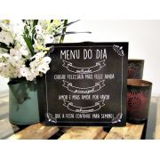 Placa Menu do Dia