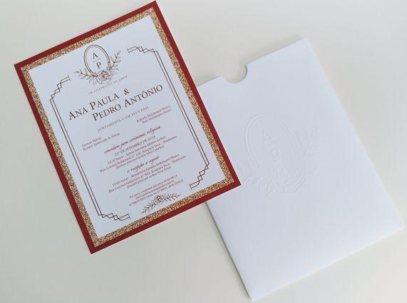 Convite Ana Paula e Pedro Antônio