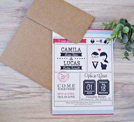 Convite Camila e Lucas
