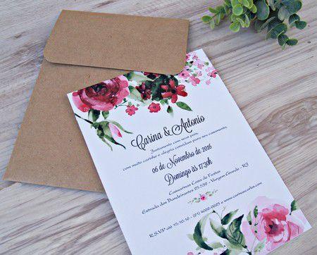 Convite Carina e Antonio