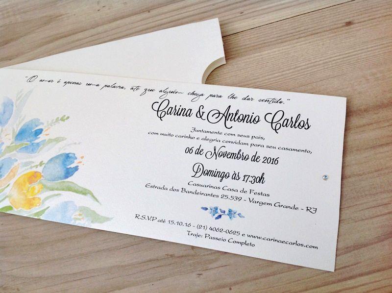 Convite Carina e Antonio Carlos