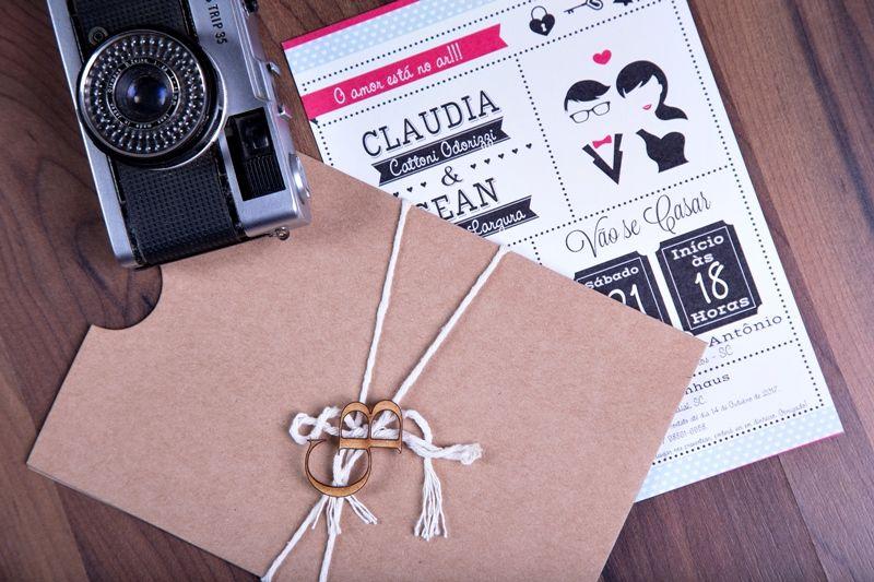 Convite Claudia e Gean