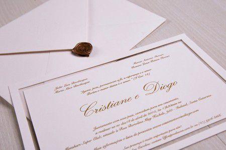 Convite Cristiane e Diogo