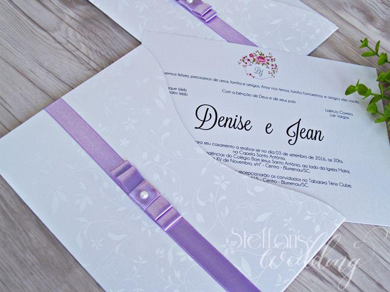 Convite Denise e Jean